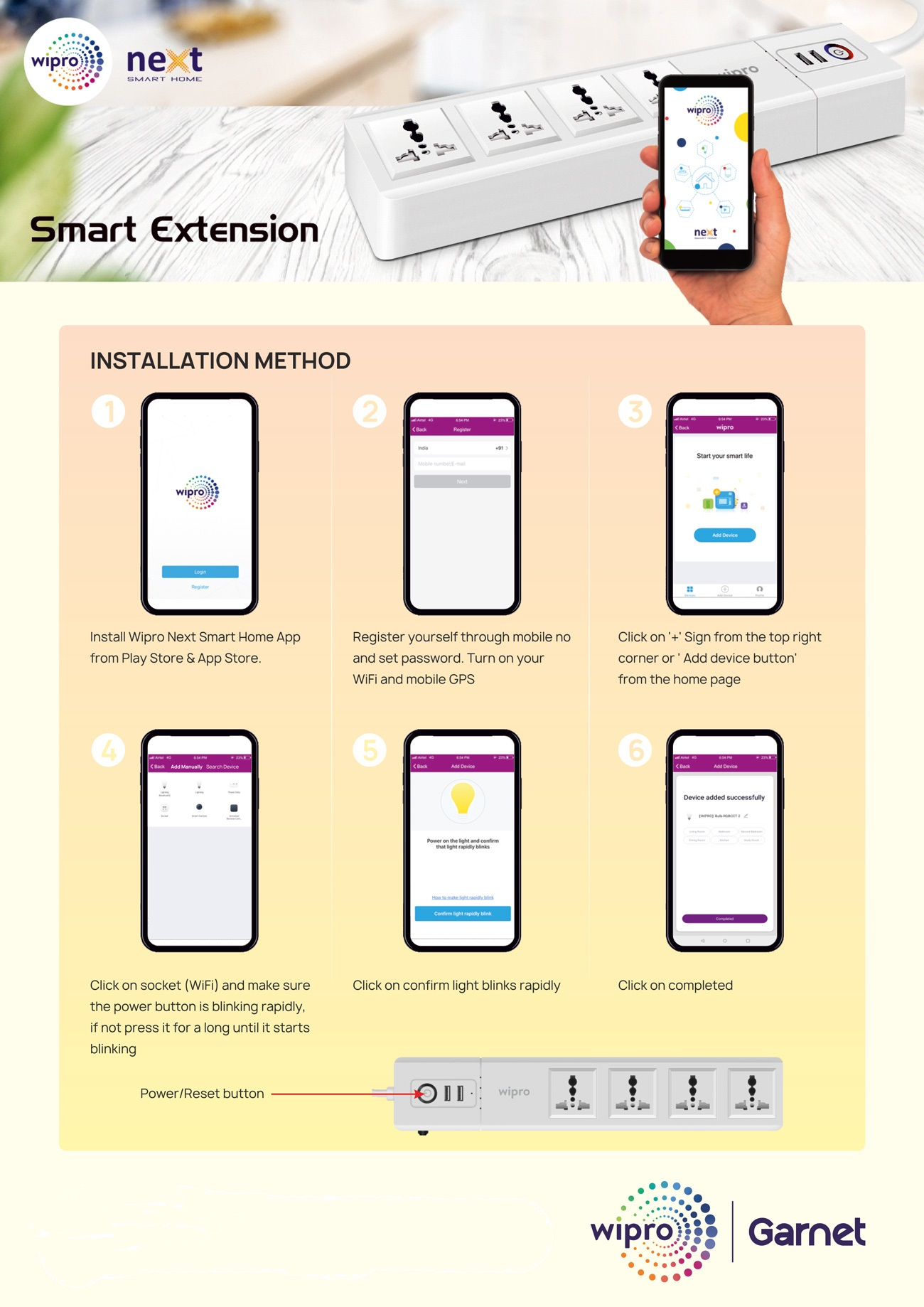 Wipro Garnet Smart Extension Box