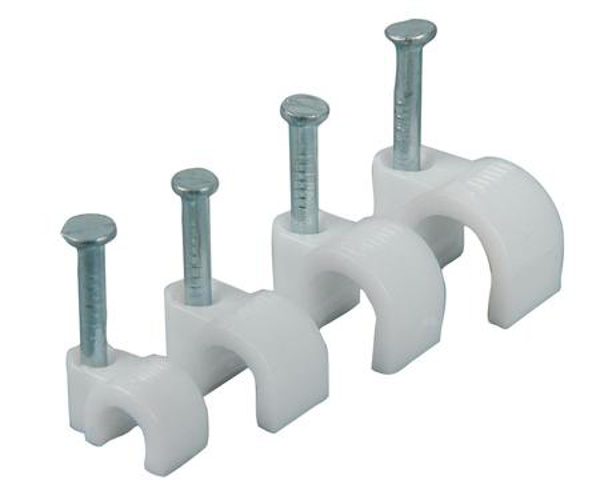 Picture of PVC 6mm Cable Clips