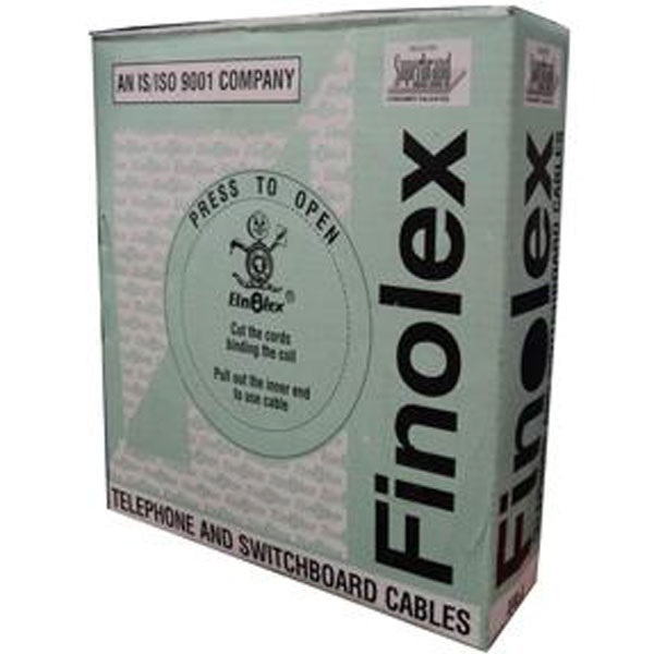 Picture of Finolex 0.5 mm 4 Pair 90 Mtr PVC Unarmoured Telephone Cable