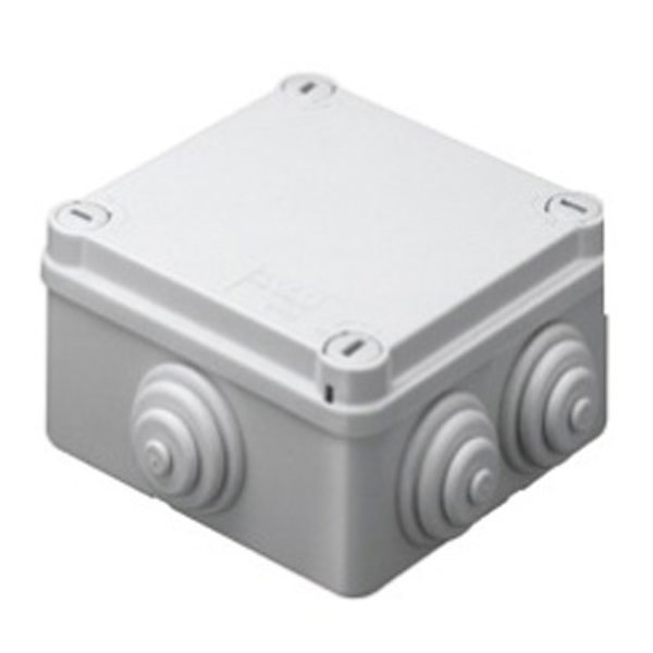 Picture of Gewiss GW44024 100x100x50 Junction Box with Glands IP-55