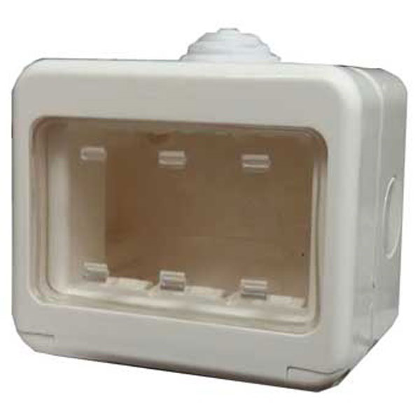 Picture of Gewiss GW27043 3 Module Combi Waterproof Switch Box