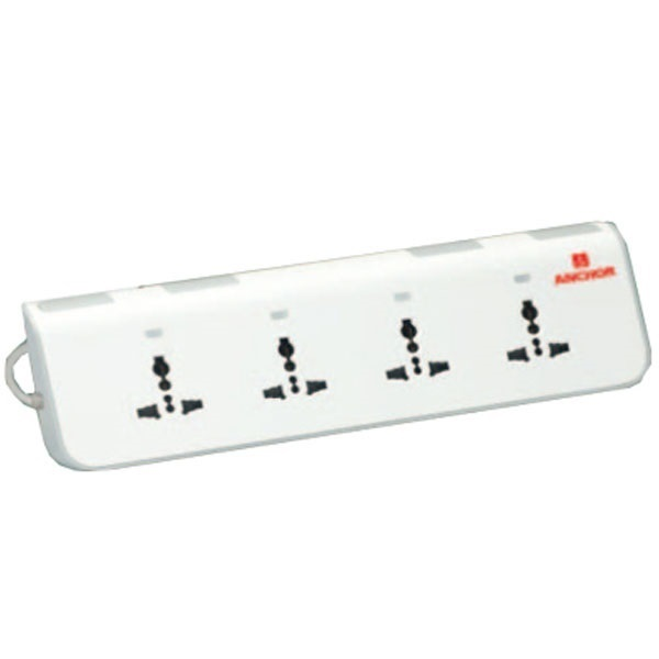 Picture of Anchor Penta 4 Universal Socket Individual Switch And Indicator Spike Guard