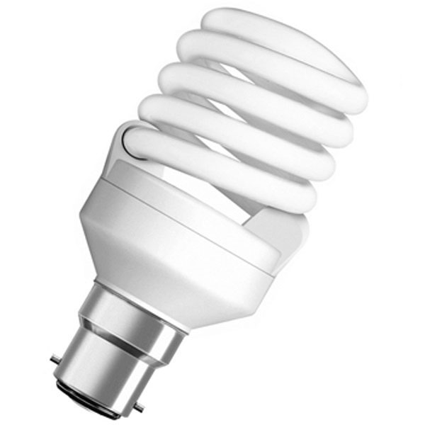 Picture of Osram 45 W B-22 Spiral CFL
