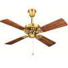 HUNTER Bayport Bright Brass Designer Ceiling Fan