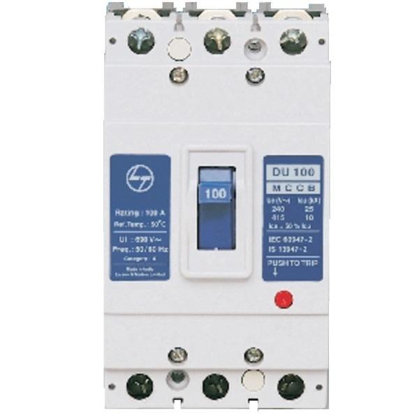 L&T DU100 100A 10kA 3 Pole MCCB