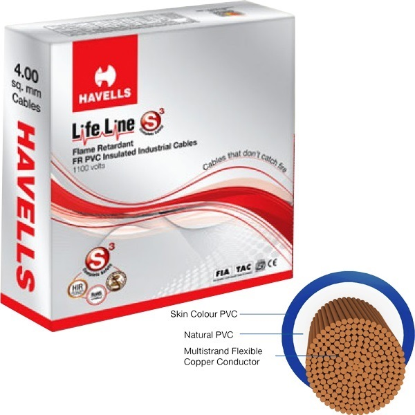 Havells 6 sq mm 90 mtr FR House Wire