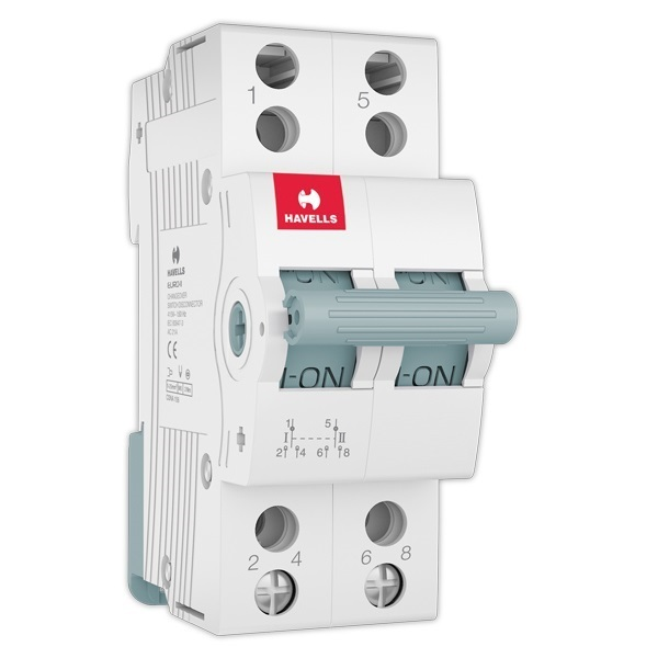 Buy Havells 63a 2 Way Center Off Dp Changeover Switch At
