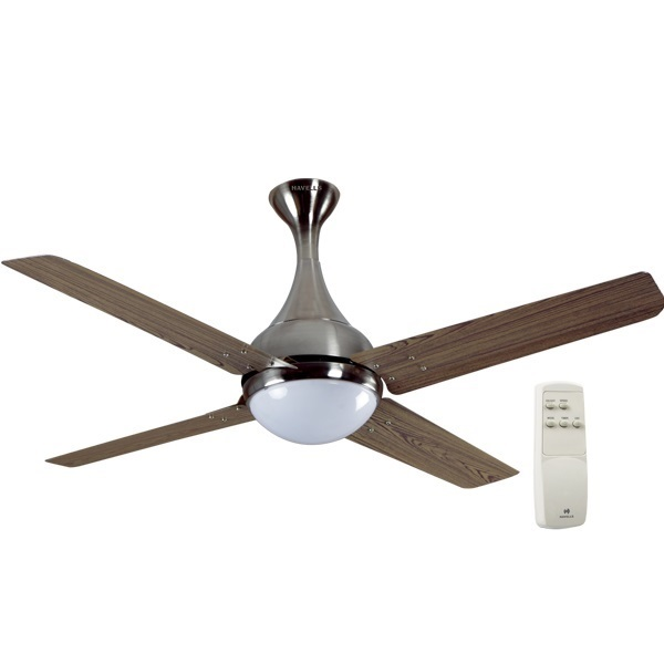 "Picture of Havells Dew 48"" Viking Teak Brushed Nickel Ceiling Fan"