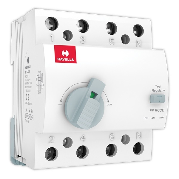 Buy Havells 63a 100ma 4 Pole Rccb At Best Price In India