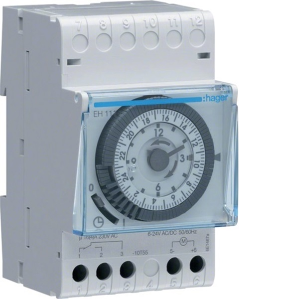Picture of Hager EH111 Quartz Analog Daily Timer Switch