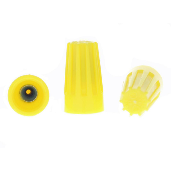 Picture of Ideal Yellow Wire Nuts for 0.75 Sqmm to 4 Sqmm (100 Pcs)